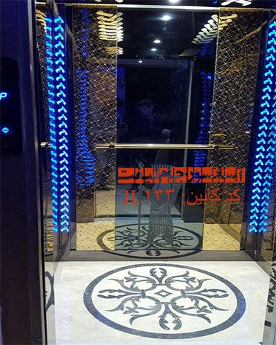 کابین آسانسور استیل طلایی خاص مدل 133