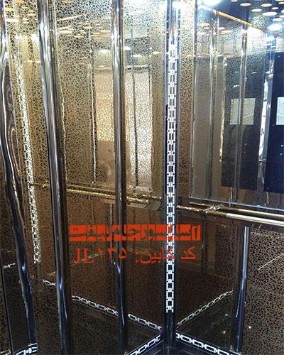 کابین آسانسور استیل طلایی مدل 135