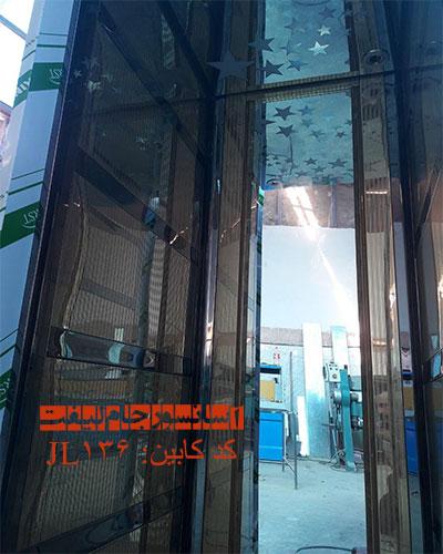 کابین آسانسور استیل طلایی مدل 136