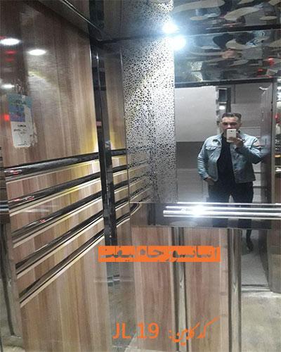 کابین آسانسور ام دی اف استیل 19