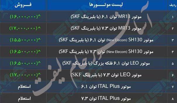 لیسن قیمت موتور الکمپ ایرانی